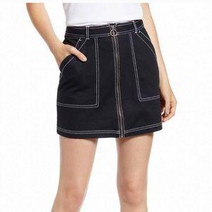 Vans Off the Wall Black Mini Skirt NWOT